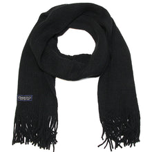 Load image into Gallery viewer, Men Solid Knitted Winter Scarf - Black