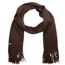 Load image into Gallery viewer, Men Solid Knitted Winter Scarf - Brown