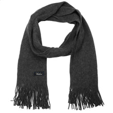 Load image into Gallery viewer, Men Solid Knitted Winter Scarf - Dark Grey