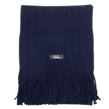 Load image into Gallery viewer, Men Solid Knitted Winter Scarf - Navy