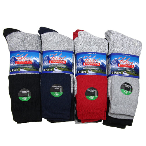 12 Pack Men Winter Ultra Warm Thermal Boot Socks