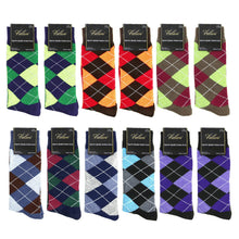 Load image into Gallery viewer, 12 Pairs Argyle Casual Dress Socks