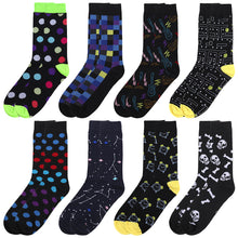 Load image into Gallery viewer, Falari Men 8 Pairs Colorful Novelty Crazy Combed Casual Dress Socks