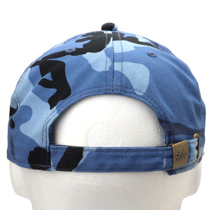 Classic Baseball Cap Soft Cotton Adjustable Size - Blue Camouflage
