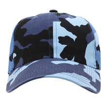 Load image into Gallery viewer, Classic Baseball Cap Soft Cotton Adjustable Size - Blue Camouflage