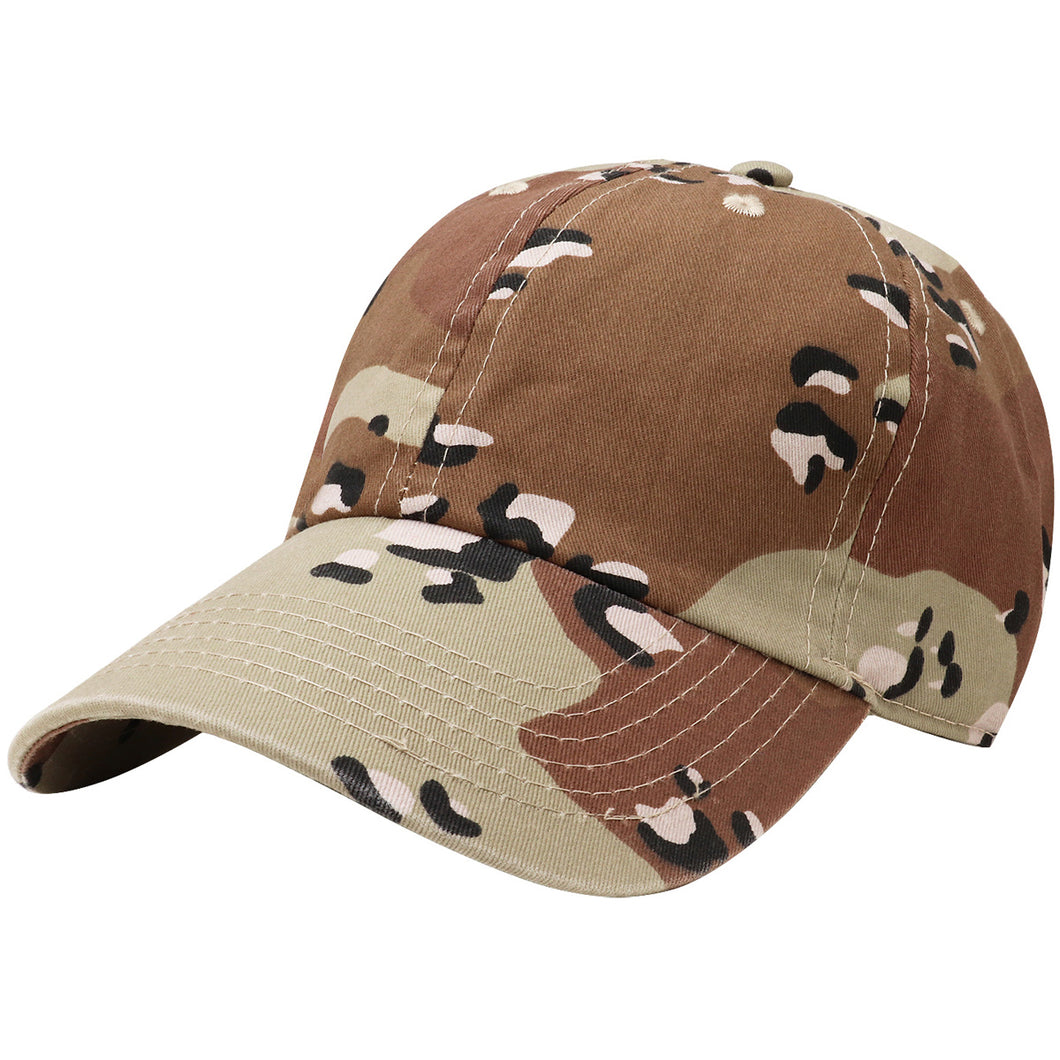 Classic Baseball Cap Soft Cotton Adjustable Size - Desert Camouflage