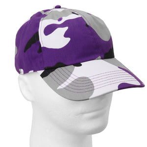 Classic Baseball Cap Soft Cotton Adjustable Size - Purple Camouflage