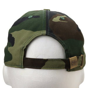 Classic Baseball Cap Soft Cotton Adjustable Size - Woodland Camouflage