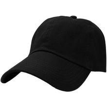 Load image into Gallery viewer, Classic Baseball Cap Soft Cotton Adjustable Size - Black