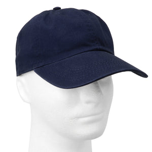 Classic Baseball Cap Soft Cotton Adjustable Size - Navy