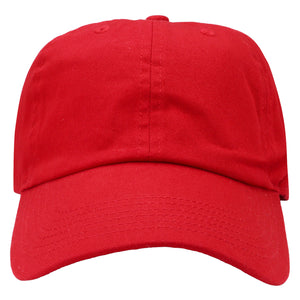 Classic Baseball Cap Soft Cotton Adjustable Size - Red