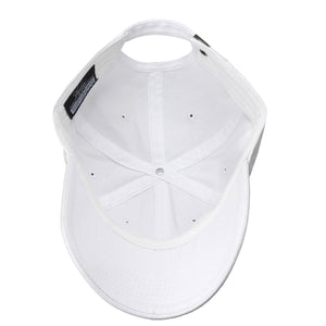 Classic Baseball Cap Soft Cotton Adjustable Size - White