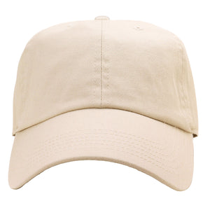 Classic Baseball Cap Soft Cotton Adjustable Size - Putty