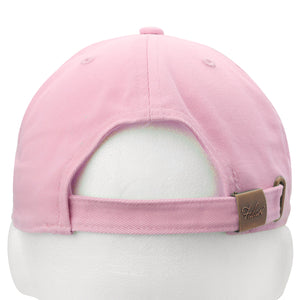 Classic Baseball Cap Soft Cotton Adjustable Size - Light Pink
