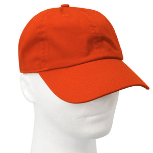 Classic Baseball Cap Soft Cotton Adjustable Size - Orange