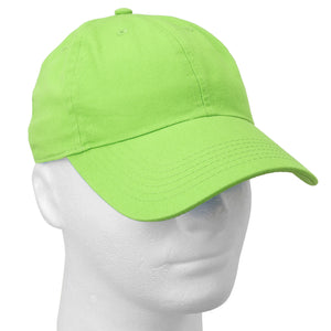 Classic Baseball Cap Soft Cotton Adjustable Size - Light Green