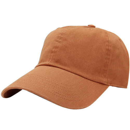 Classic Baseball Cap Soft Cotton Adjustable Size - Copper