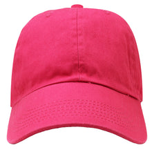 Load image into Gallery viewer, Classic Baseball Cap Soft Cotton Adjustable Size - Hot Pink