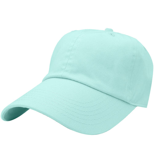 Classic Baseball Cap Soft Cotton Adjustable Size - Aqua Blue