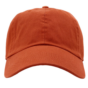 Classic Baseball Cap Soft Cotton Adjustable Size - Rust