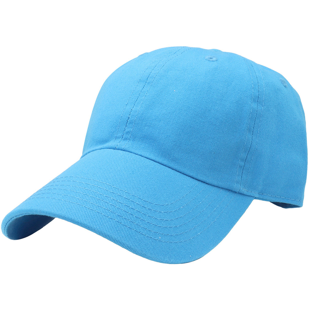 Classic Baseball Cap Soft Cotton Adjustable Size - Turquoise