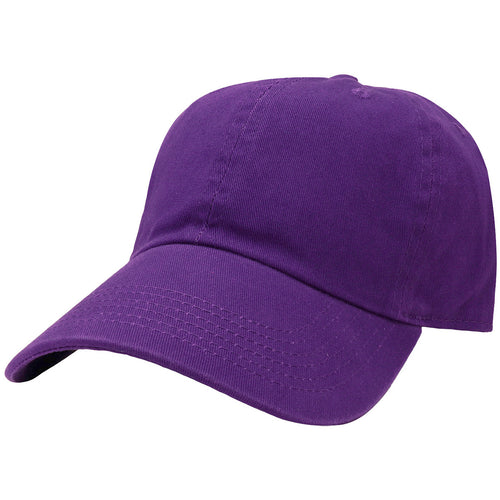 Classic Baseball Cap Soft Cotton Adjustable Size - Dark Purple