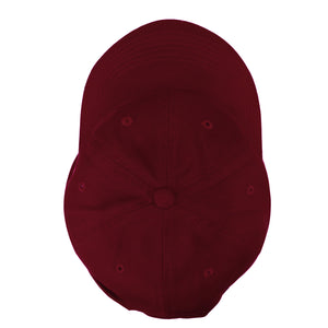 Classic Baseball Cap Soft Cotton Adjustable Size - Burgundy