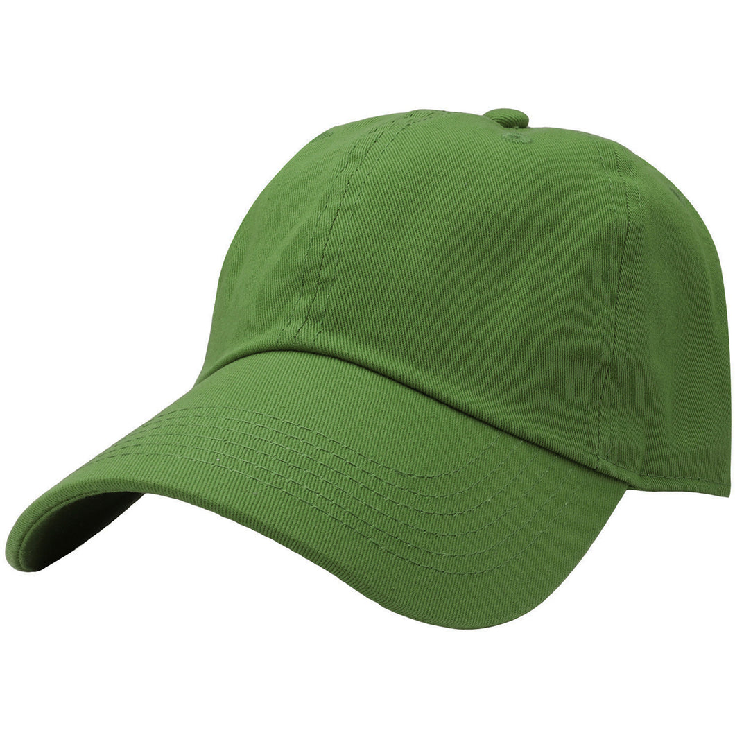Classic Baseball Cap Soft Cotton Adjustable Size - Forest Green
