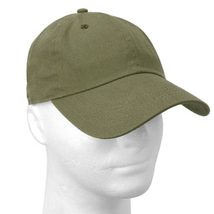 Classic Baseball Cap Soft Cotton Adjustable Size - Army Green