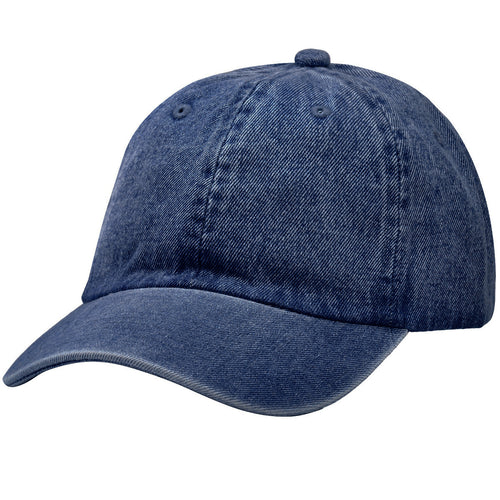 Classic Baseball Cap Soft Cotton Adjustable Size - Dark Blue Denim