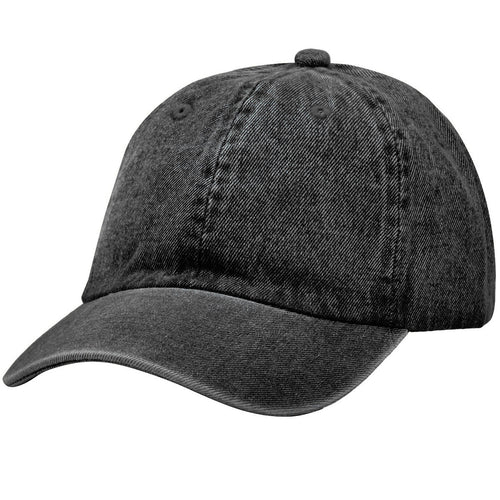 Classic Baseball Cap Soft Cotton Adjustable Size - Black Denim