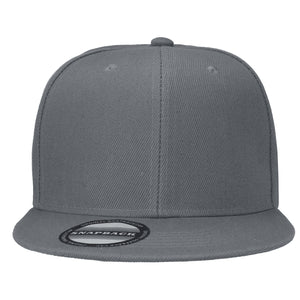 Hip Hop Style Snapback Hat Flat Bill Adjustable Size - Grey