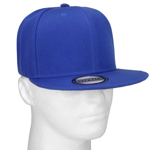 Hip Hop Style Snapback Hat Flat Bill Adjustable Size - Royal