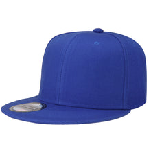 Load image into Gallery viewer, Hip Hop Style Snapback Hat Flat Bill Adjustable Size - Royal