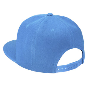 Hip Hop Style Snapback Hat Flat Bill Adjustable Size - Sky Blue