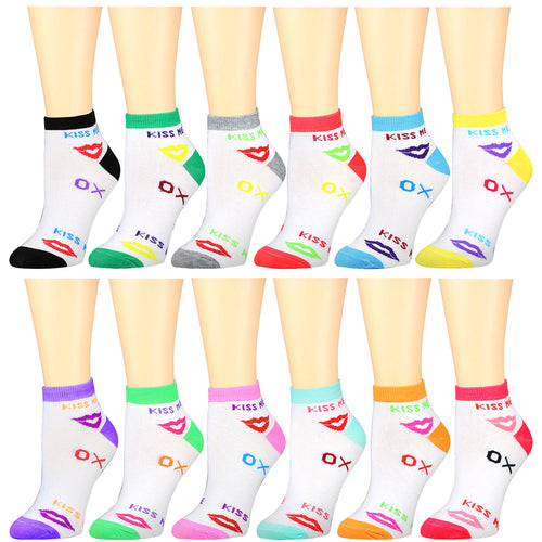 12-Pack Women's Ankle Socks