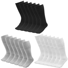 Load image into Gallery viewer, 6 Pairs Men's Athletic Sport Tube Socks 10-15 Mid Calf