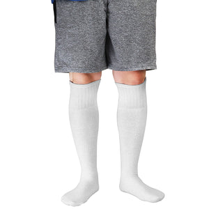 6 Pairs Men's Athletic Sport Tube Socks 10-15 Over the Calf - Big & Tall