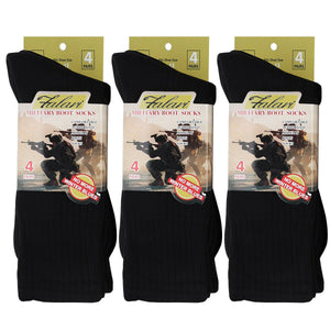 4/12 Pairs US Army Military Boot Socks Combat Trekking Hiking Policemen Firefighter Security Guard Out Door Activities Socks