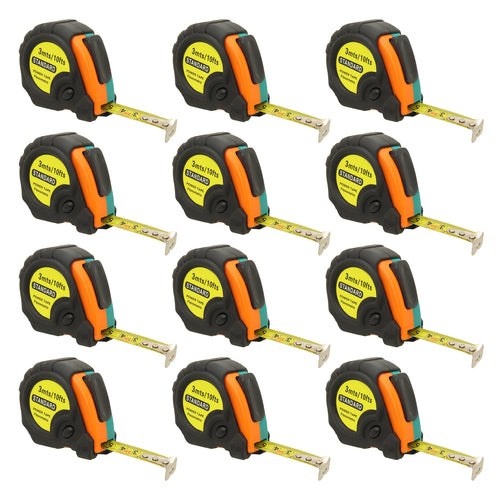 10ft Power Tape Measure Auto Lock (12-Pack)
