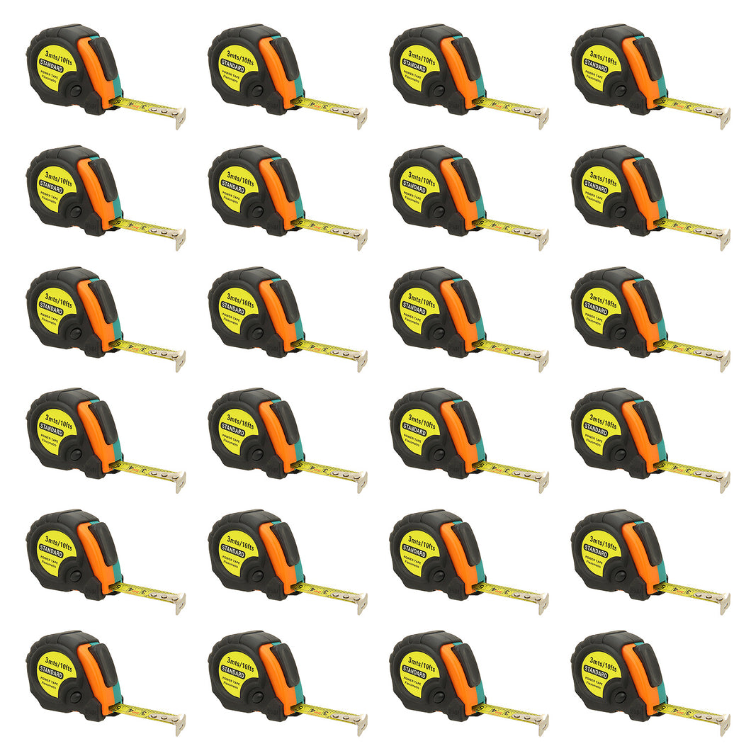 10ft Power Tape Measure Auto Lock (24-Pack)