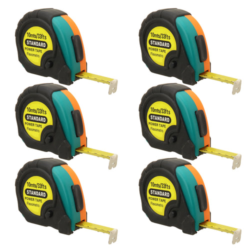 33ft Power Tape Measure Auto Lock (6-Pack)