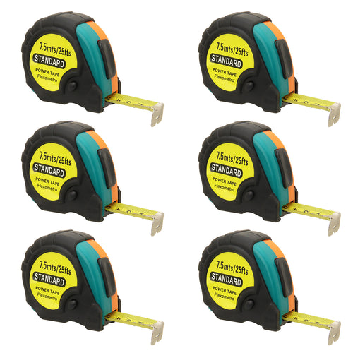 25ft Power Tape Measure Auto Lock (6-Pack)