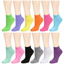 Load image into Gallery viewer, 12-Pack Women's Ankle Socks