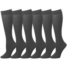Load image into Gallery viewer, 6 Pairs Women Trouser Socks Stretchy Spandex Opaque Knee High