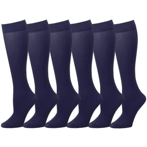 6 Pairs Women Trouser Socks Stretchy Spandex Opaque Knee High