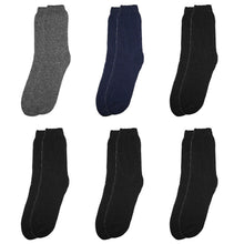 Load image into Gallery viewer, 6-Pack Men's Winter Thermal Socks