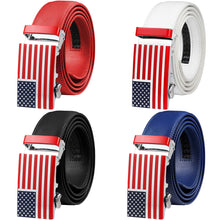 Load image into Gallery viewer, Falari American Flag Buckle Ratchet Belt