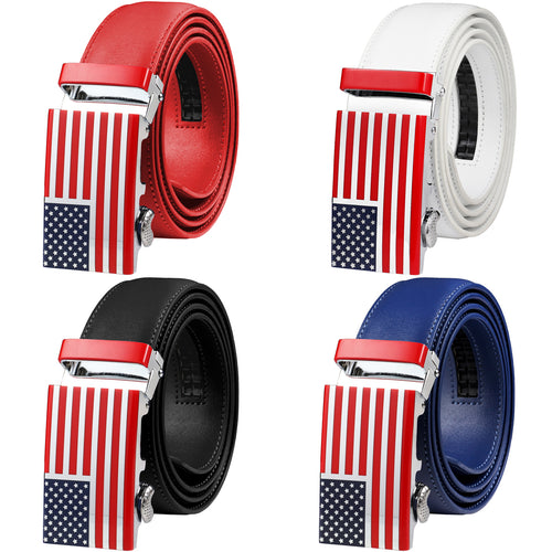 Falari American Flag Buckle Ratchet Belt