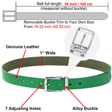 "Load image into Gallery viewer, Falari Kids Leather Belts for Boys All Occasion 1"" Trim to Fit - One Piece Leather Cutting"